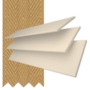 Charisma 35 Cream Fine Grain - 35mm Slat Faux Wood Blind Camel Tape
