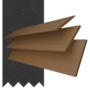 Maine 50 Dark Oak - 50mm Slat Wooden Venetian Blind Charcoal Tape