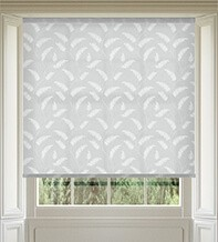 Feather Mid Grey - Patterned Roller Blind