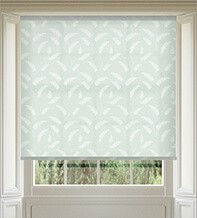 Feather Green - Patterned Roller Blind