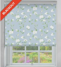 Finch Blue Pastel - Floral Pattern Blackout Roller Blind