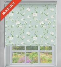 Finch Green Pastel - Floral Pattern Blackout Roller Blind