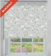 Finch Grey Pastel - Floral Pattern Blackout Roller Blind