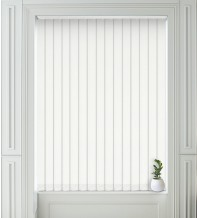 Grace White - Shadow Pattern Vertical Blind