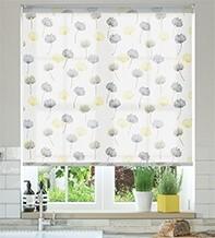 Imogen Yellow - Floral Pattern Roller Blind