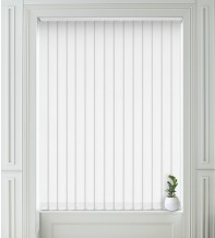 Isabelle White - Shadow Pattern Vertical Blind