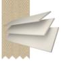 Charisma 35 Ivory Fine Grain - 35mm Slat Faux Wood Blind Hessian Tape