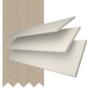 Charisma 35 Ivory Fine Grain - 35mm Slat Faux Wood Blind Light Beige Tape