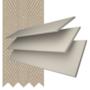 Charisma 35 Ivory - 35mm Slat Faux Wood Blind Light Beige Tape