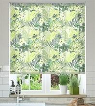 Jungle Tropical Green - Patterned Roller Blind