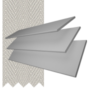 Charisma 35 Light Grey - 35mm Slat Faux Wood Blind Dove Tape