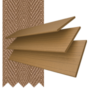 Charisma 35 Light Oak - 35mm Slat Faux Wood Blind Toffee Tape