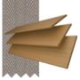 Charisma 35 Light Oak - 35mm Slat Faux Wood Blind Truffle Tape