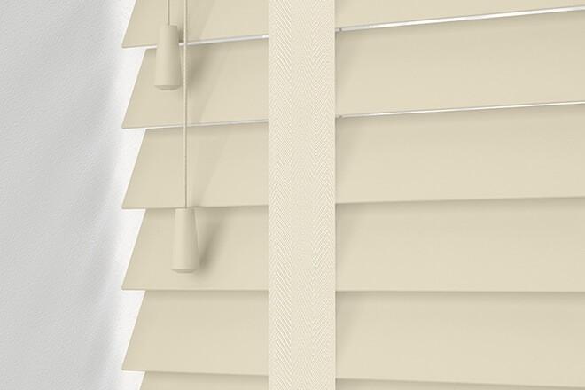Maine 35 Cream - 35mm Slat Wooden Venetian Blind with Whisper Tape