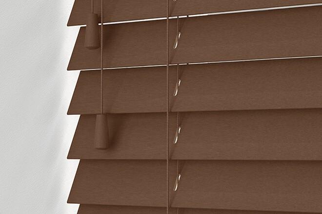 Maine 50 Dark Oak - 50mm Slat Wooden Venetian Blind