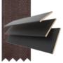 Maine 50 Black - 50mm Slat Wooden Venetian Blind Husk Tape