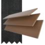 Maine 35 Dark Oak - 35mm Slat Wooden Venetian Blind with Charcoal Tape