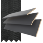 Maine 35 Slate Grey - 35mm Slat Wooden Venetian Blind with Charcoal Tape