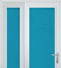 Precision Metallic Blue – 25mm Slat Venetian Perfect Fit Blind