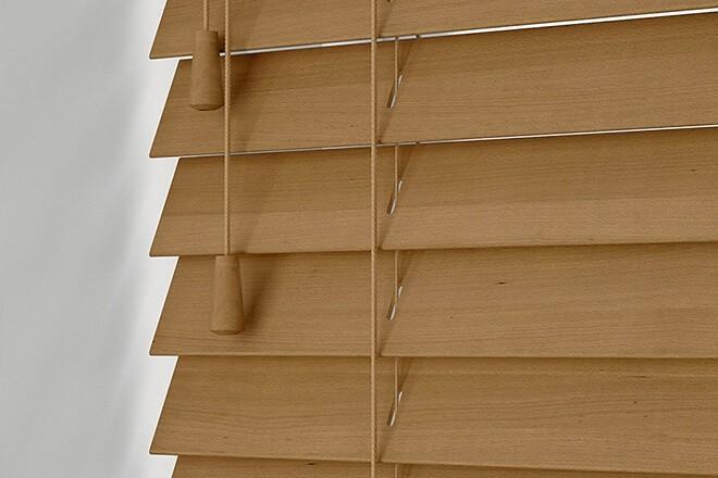 Morgan Honey - 50mm Slat Wooden Blind
