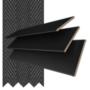 Morgan 35 Black - 35mm Slat Wooden Blind Black Tape