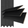 Morgan 50 Black - 50mm Slat Wooden Blind Black Tape