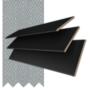 Morgan 35 Black - 35mm Slat Wooden Blind Steel Tape