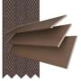 Morgan 35 Chestnut - 35mm Slat Wooden Blind Coffee Tape