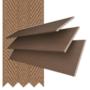 Morgan 35 Chestnut - 35mm Slat Wooden Blind Toffee Tape