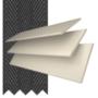 Morgan 50 Cream Gloss - 50mm Slat Wooden Blind Black Tape