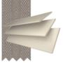 Morgan 50 Cream Gloss - 50mm Slat Wooden Blind Truffle Tape