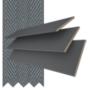 Morgan 50 Dark Grey - 50mm Slat Wooden Blind Slate Tape