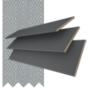 Morgan 50 Dark Grey - 50mm Slat Wooden Blind Steel Tape