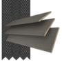 Morgan 50 Flint Grey Oak - 50mm Slat Wooden Blind Black Tape