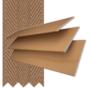 Morgan 50 Golden Oak - 50mm Slat Wooden Blind Toffee Tape
