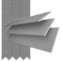 Morgan 35 Light Grey - 35mm Slat Wooden Blind Gallant Tape