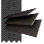 Morgan 50 Mahogany - 50mm Slat Wooden Blind Black Tape