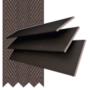 Morgan 35 Mahogany - 35mm Slat Wooden Blind Coffee Tape