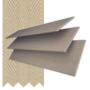 Morgan 50 Natural Oak - 50mm Slat Wooden Blind Hessian Tape