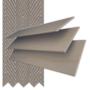 Morgan 50 Natural Oak - 50mm Slat Wooden Blind Truffle Tape