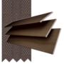 Morgan 50 Rich Oak - 50mm Slat Wooden Blind Coffee Tape