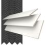 Morgan 35 White - 35mm Slat Wooden Blind Black Tape