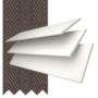 Morgan 35 White - 35mm Slat Wooden Blind Coffee Tape