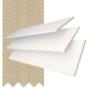 Morgan 50 White Gloss - 50mm Slat Wooden Blind Hessian Tape