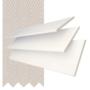 Morgan 50 White Gloss - 50mm Slat Wooden Blind Mist Tape