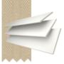 Morgan 35 White - 35mm Slat Wooden Blind Hessian Tape