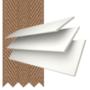 Morgan 50 White - 50mm Slat Wooden Blind Toffee Tape