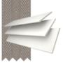 Morgan 35 White - 35mm Slat Wooden Blind Truffle Tape