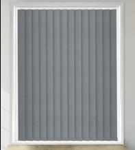 Mosaic Dark Grey - Vinyl Blackout Vertical Blind