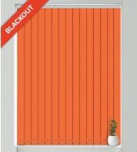 Natalie Bright Orange - Blackout Vertical Blind